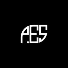PES Letter Logo Design On Black Background. PES Creative Initials Letter Logo Concept. PES Letter Design