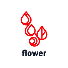 Abstract Flower From Four Element Logo