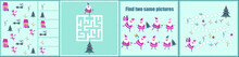 Christmas Maze. I Spy. Kids Mini Game For Development.