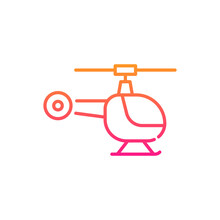 Helicopter Vector Gradient Icon Style Illustration. Eps 10 File