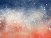 Colorful Galaxy Space Sky With Sparkle Stars Background