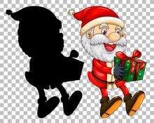 Santa Handing The Gift