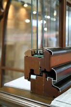 An Image Of A Modern Wooden Window.
