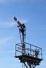 Old Style Railway Semaphore Signal