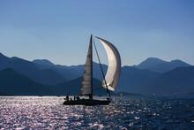 Sailing Yachts At Sea