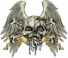 Ost-apocalypse Sign With Skull And Gas Mask, Grunge Vintage Design T Shirts