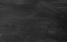 Black Blackboard Chalkboard Texture.Empty Blank Dark Scratched Chalkboard Banner Wallpaper.School Board Background With Traces Of Chalk And Scratches.Cafe, Bakery, Restaurant Menu Template.Art.Frame.