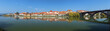Maribor, Slovenia. Panorama of historical part of the city from the shore of Drava river. Maribor is the second-largest city in Slovenia and the largest city of the traditional region of Lower Styria.