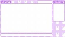 ゲーム配信背景【シンプルループ 兎 パープル】