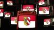 Flag of Nuremberg, Germany, and Vintage Televisions.