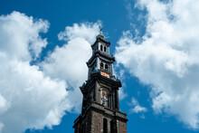 Westertoren In Amsterdam, Noord-Holland Province, The Netherlands