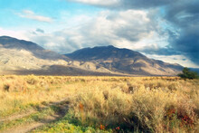Owens Valley And White Mountains Sunset In Fall, CA, US.