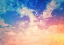 抽象的で幻想的な空のイラスト