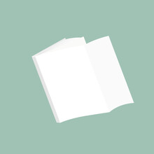 Book Blank Green Cover Perspective View. Vector Illustration