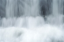 Close Up Water Flowing Of Waterfall, Background/Texture