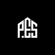 PES Letter Logo Design On Black Background. PES Creative Initials Letter Logo Concept. PES Letter Design.
