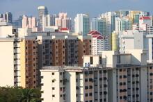 HDB Public Housing Apartments In Singapore, Asia