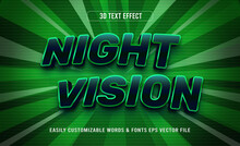 Night Vision Green Gaming 3d Editable Text Effect