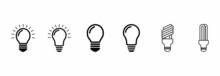 Lamp Bulb Icon Set, Lamp Bulb Vector Set Symbol Illustrations