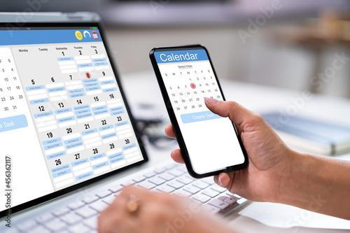 Stampa su Tela Calendar Schedule Planning. Business Agenda