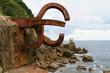 Escultura del Peine de los Vientos en San Sebastián