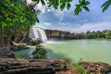 """Royalty High Quality Free Stock Image Aerial View Of """" Dray Nur """" Waterfall, Buon Me Thuot, Vietnam. """" Dray Nur """" Waterfall Is One Of The Top 10 Waterfalls In Vietnam. Aerial View"""