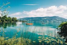 Mondsee Lake In Salzkammergut In Austria During Summer