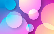 Colorful Gradient Abstract Background Elegant Circle Shape