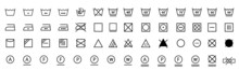 Washing Icon Set. Laundry Icons Collection. Stock Vector Illustration...
