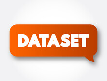Dataset Text Message Bubble, Technology Concept Background