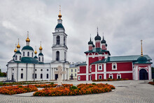 Russia. The Town Of Uglich. Epiphany Convent. Fedorovskaya And Smolensk Churches