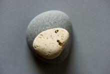 Two Stones On Gray