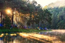 Morning At Pang Ung Lake, Pang Ung Mae Hong Son Province, North Of Thailand