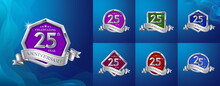 Silver Icons For Quarter Year Celebration