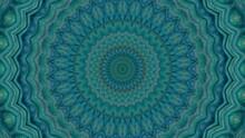 Abstract Textured Green Kaleidoscope Background.