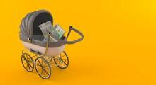 Polish Currency Inside Stroller