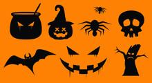 Happy Halloween Party Of Pumpkin, Horror Spooky Night, Jack O Lantern, Vector Illustration