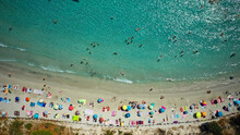 Plage Vue De Dessus En Corse