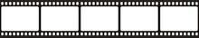 Film Strip. Retro Film Strip Frame. Cinema Filmstrip Template. Vector Illustration.