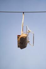 Empty Sky Lift Chair Ride At The Fair Amusement Park