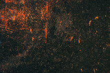 The Texture Of Old Metal Rusty Covered With Paint Residue