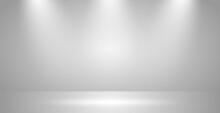Realistic Light Studio With Spotlights Lighting - Vector