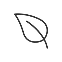 Simple Leaf Line Icon.