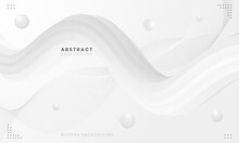 Monochromatic Abstract Background. Fluid And Spiral Abstract Illustration Design