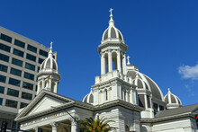San Jose Cathedral Basilica Of St. Joseph Was Built In 1885 At 80 S Market Street In Downtown San Jose, California CA, USA.