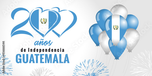Carta da parati 200 anos de Independencia Guatemala, spanish text - 200 years anniversary Independence Day from Spain