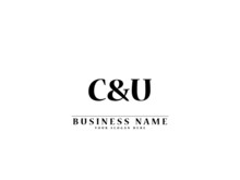 Letter CU Logo, Creative Cu C&u Letter Logo Icon Vector For Your Simple Fashion, Apparel And Clothing Brand Or Any Type Of Business