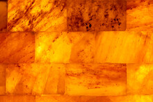 Orange Wall Light Brick Block Abstract Texture Background.