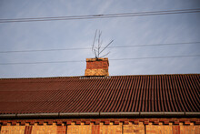 A Structure On The Chimney Of The House So That The Stork Does Not Make A Nest.
