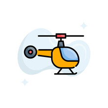 Helicopter Vector Filled Outline Icon Style Illustration. Eps 10 File